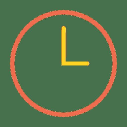Time clock stroke icon.