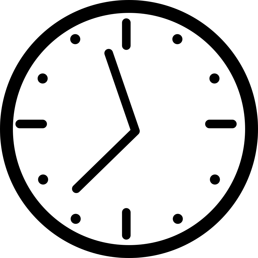 Round Wall Clock Svg Png Icon Free Download (#19513.