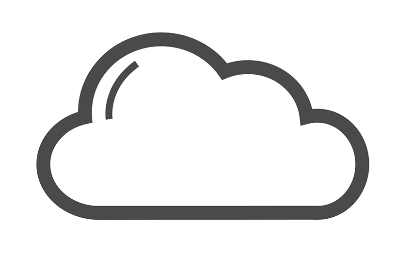 Cloud Computing Icon clipart.