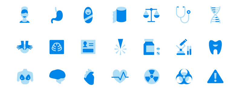 Medical Icons Design Process + Download Free Healthcare Icons.