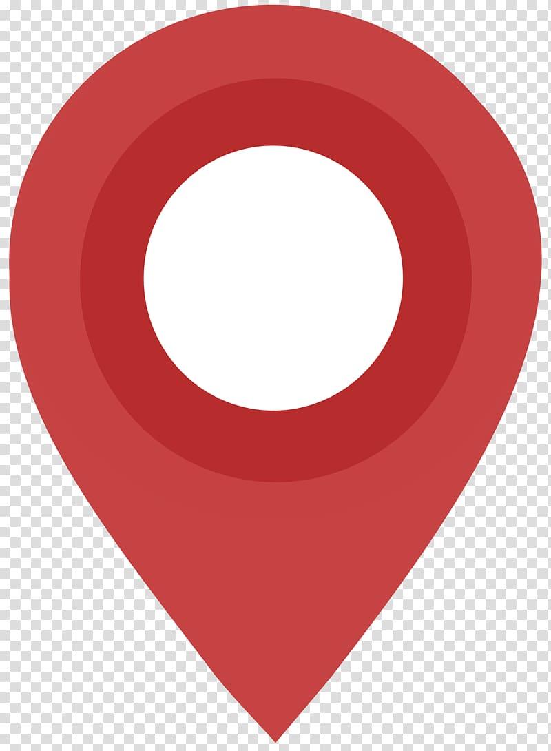 Pinpoint icon, Flat Design Map Pin transparent background.