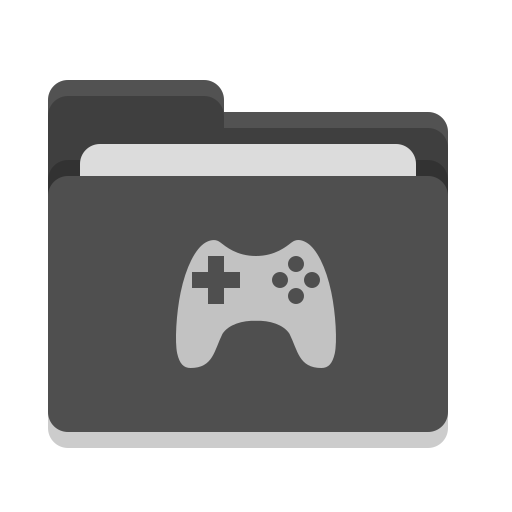 Folder, black, games Icon Free of Papirus Places.