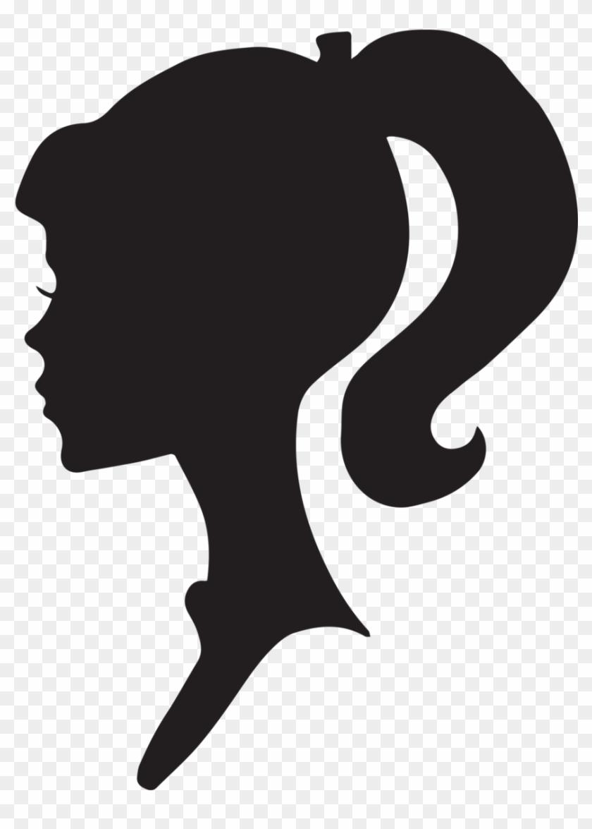Female Silhouette Head.