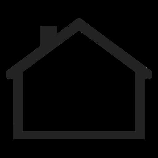 Flat house icon.