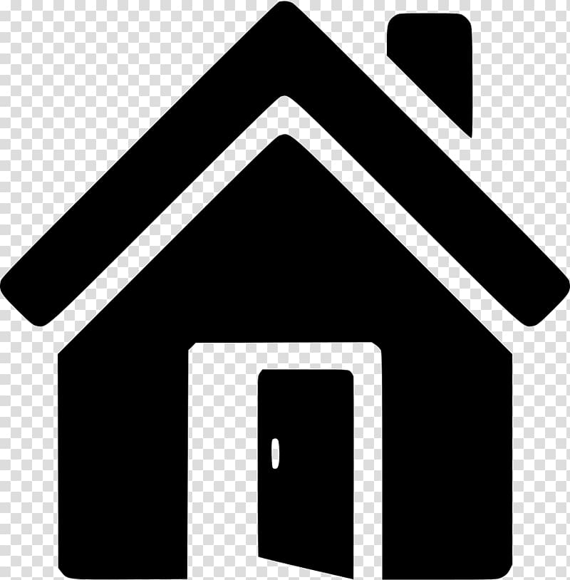 Black and white house illustration, House Computer Icons Symbol.