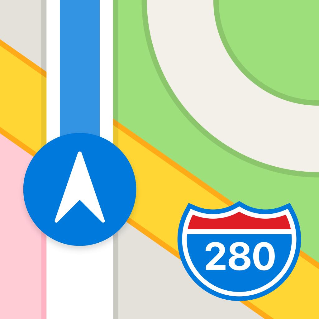 Maps app icon.