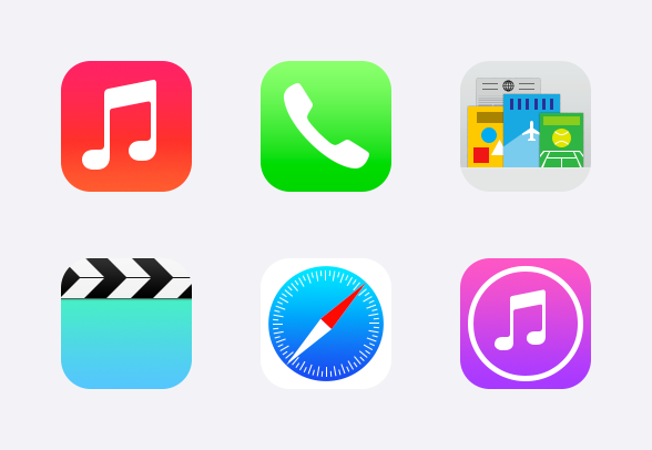 Apple iOS 7 icons icons by.