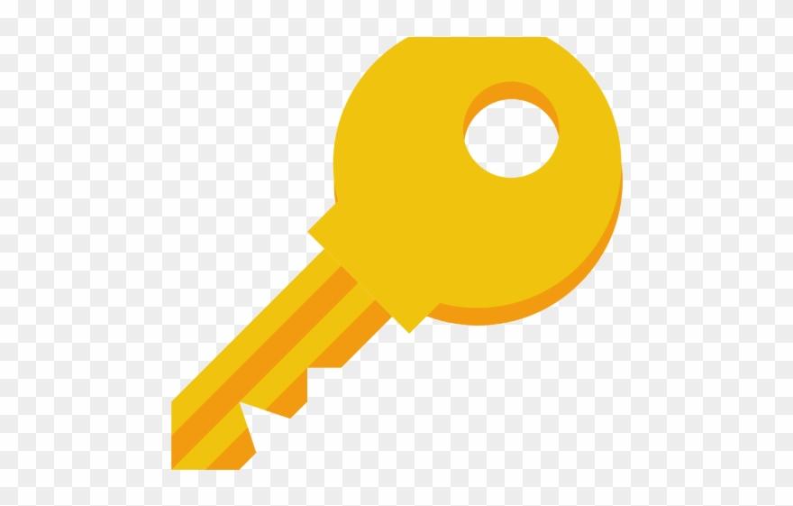 Lock Keys Facts Clipart Icon.