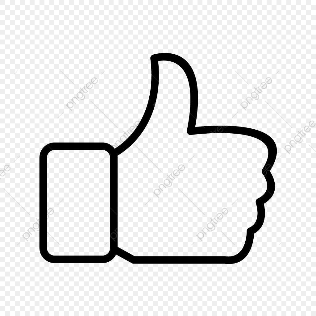 Vector Like Icon, Hand, Like, Thumbs Up PNG and Vector with.