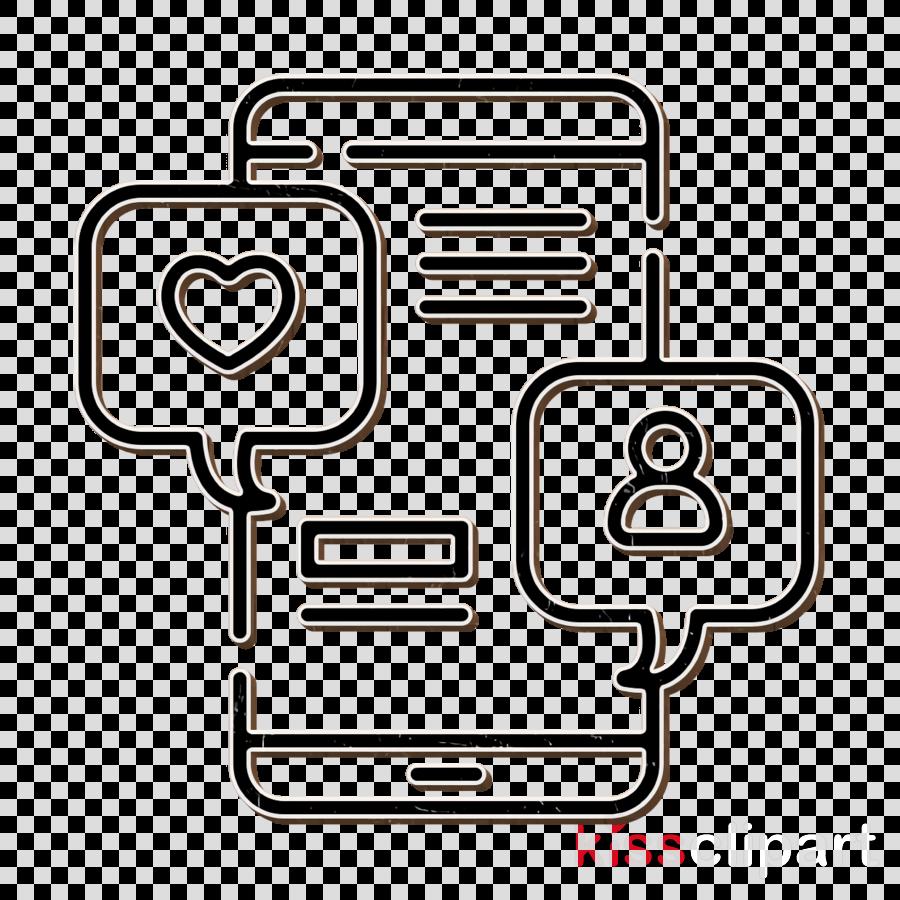 Copywriting icon Like icon Social media icon clipart.