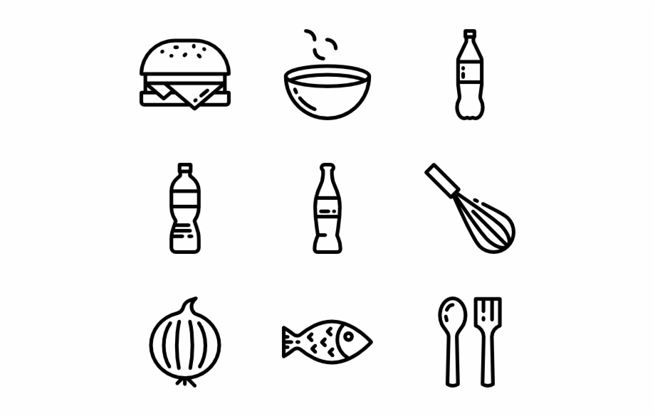 Food And Restaurant Food Line Icon Png.