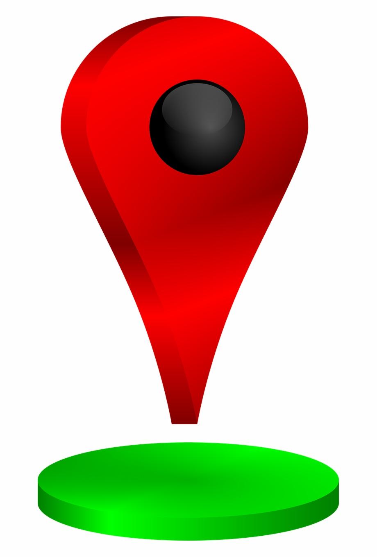 Location Marker Pin Simbol Lokasi.