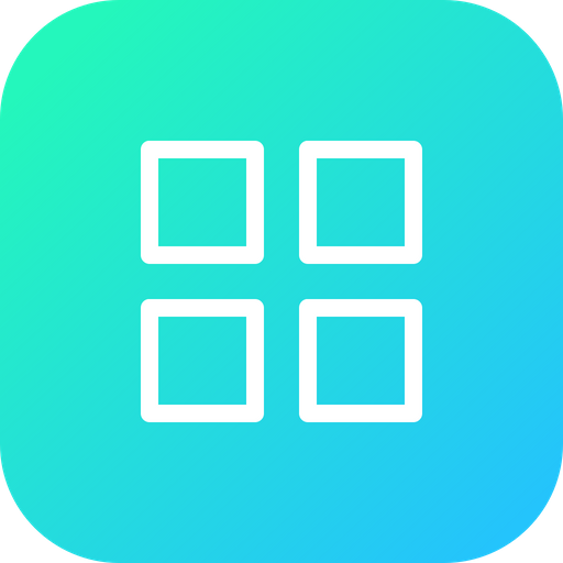Android, Menu, Grid, App, View, Application, Outline.