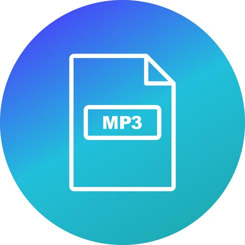 MP3 Vector Icon.