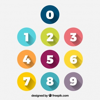 Number Vectors, Photos and PSD files.