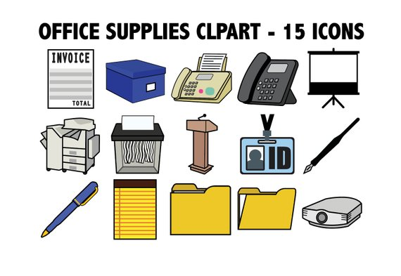 OFFICE SUPPLIES CLIPART.