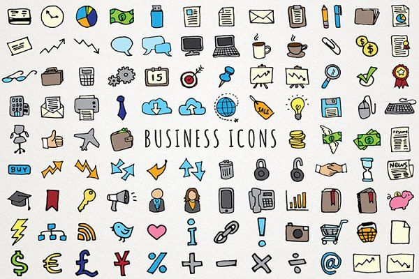 Business & Computing Icons by Lemonade Pixel on.