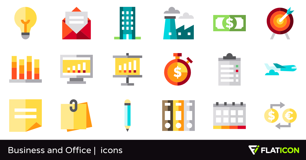 Business and Office 70 free icons (SVG, EPS, PSD, PNG files).