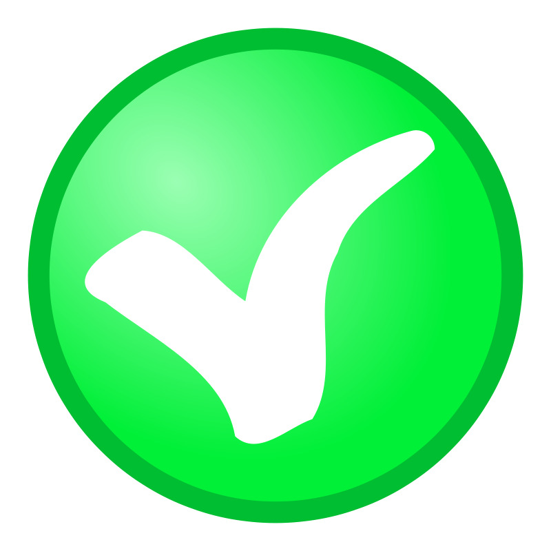 Free Clipart: Red + green OK, not OK Icons.