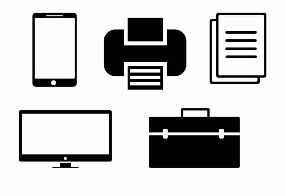 Free Flat Office Icon Pack.