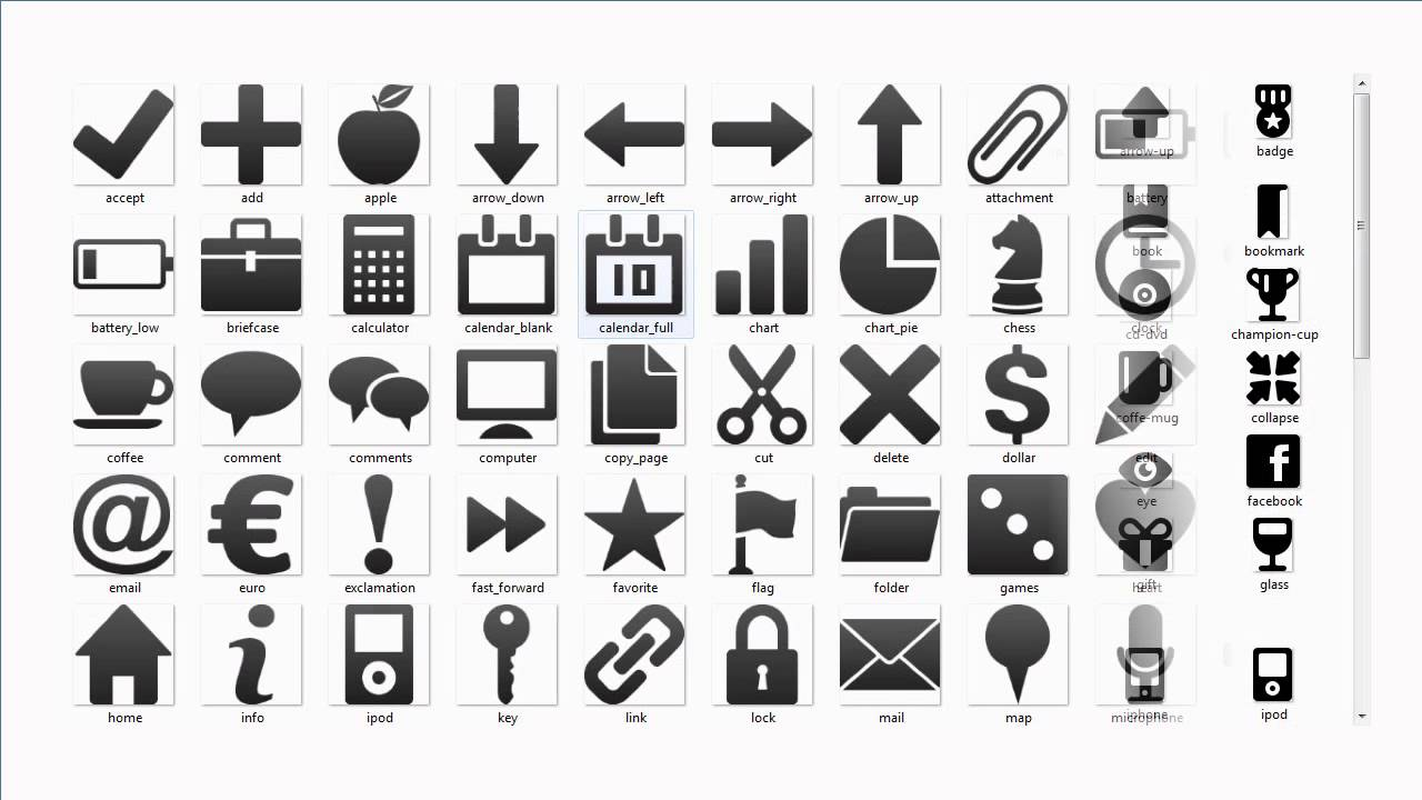 1300 Black & white Icons PNG Pack Free Download.