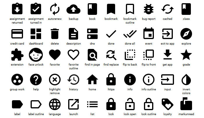 6 Free Material Design Icon Packs.