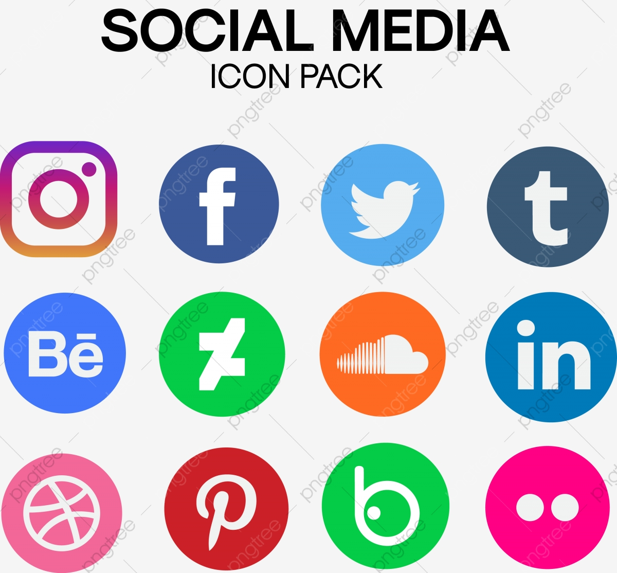 Popular Social Media Icon Pack, App, Socialmedia, Icon PNG and.