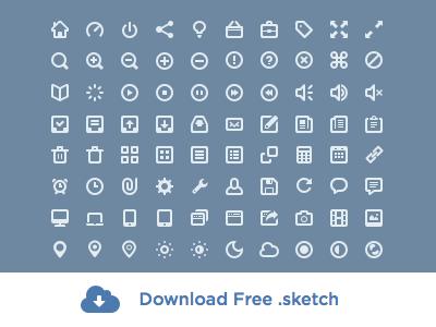 Free Icon Set Sketch freebie.