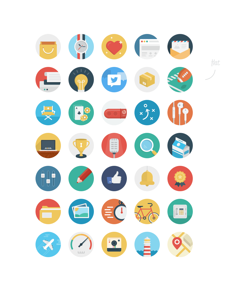 36 Beautiful Rounded Icons.