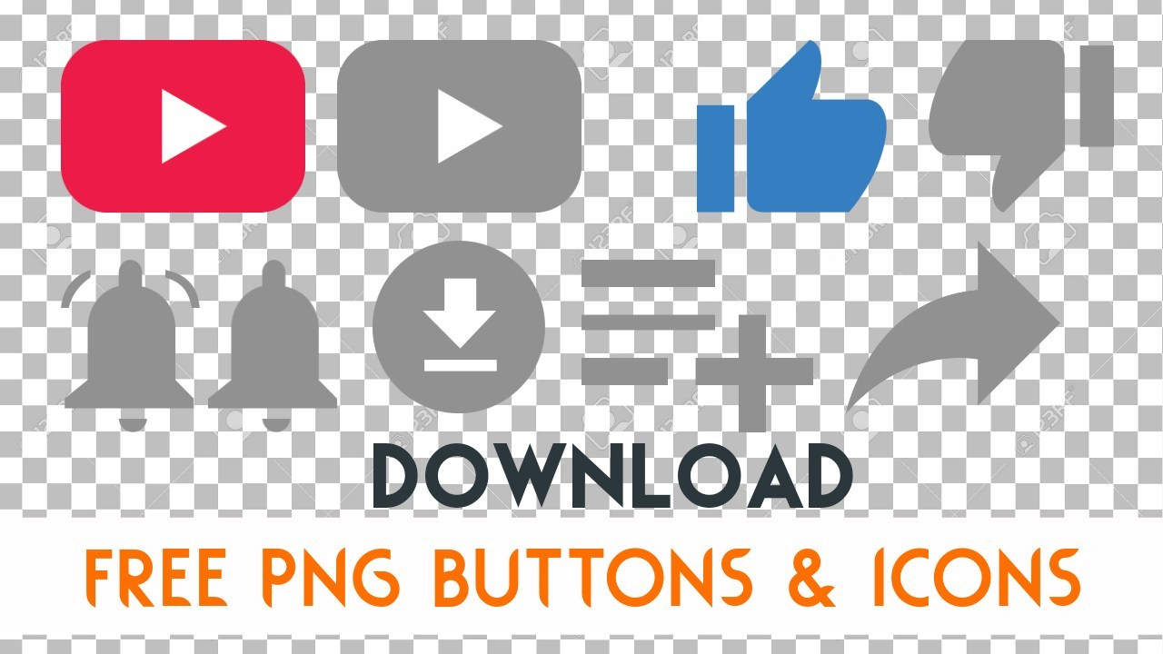 Download Free Subscribe, Like, Dislike, Save, Share, Buttons Png.