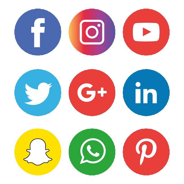 Social Media Icons Set Logo, Social Media Icons, Social Media.