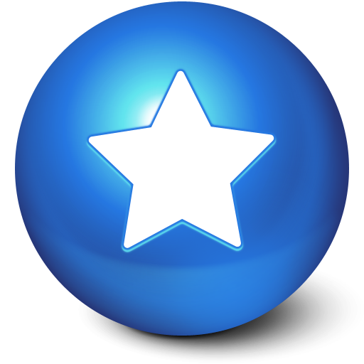 Blue Star Ball Favorites icon png #4626.