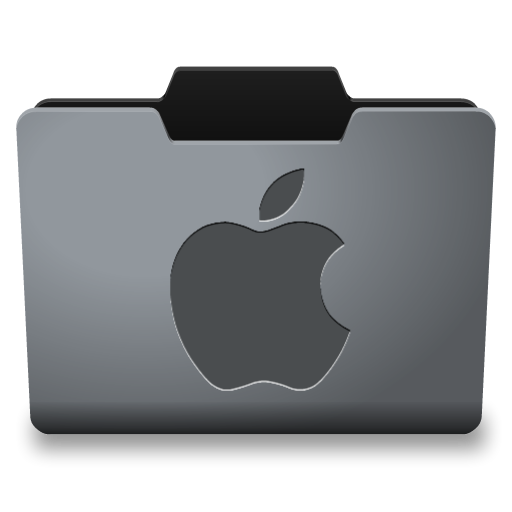 Steel Mac Classy Folder Icon #3304.