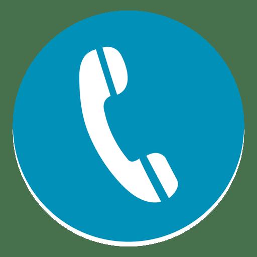 Phone round icon.
