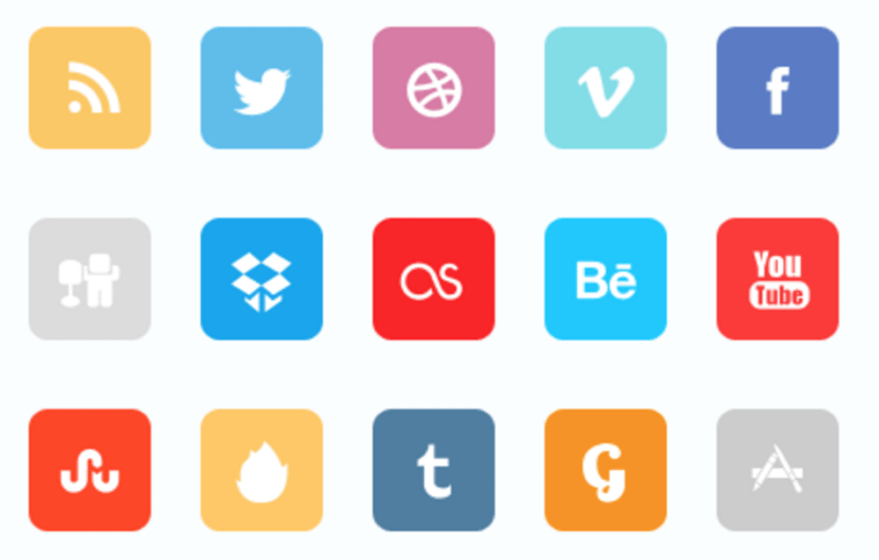 54 Beautiful [Free!] Social Media Icon Sets For Your Website.