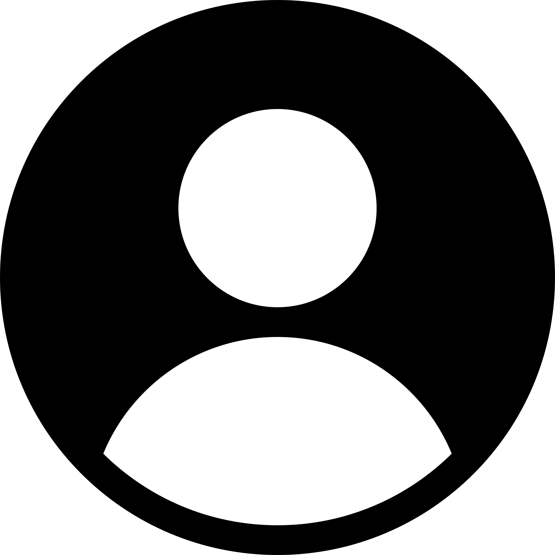 Circled User Icon transparent PNG.