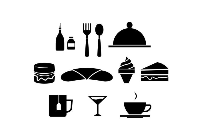 Restaurant Silhouette Icon Vector.