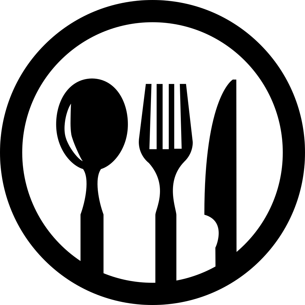 Restaurant Symbol Of Cutlery In A Circle Svg Png Icon Free Download.