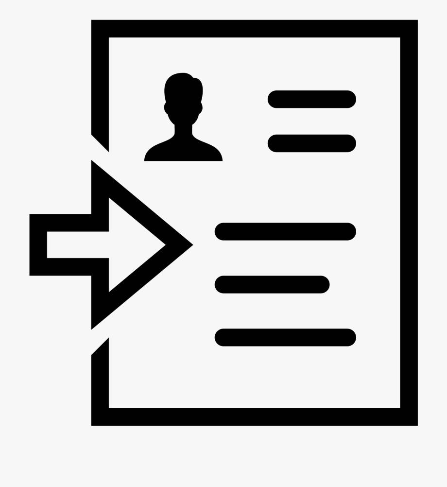 Resume Clipart Resume Icon.