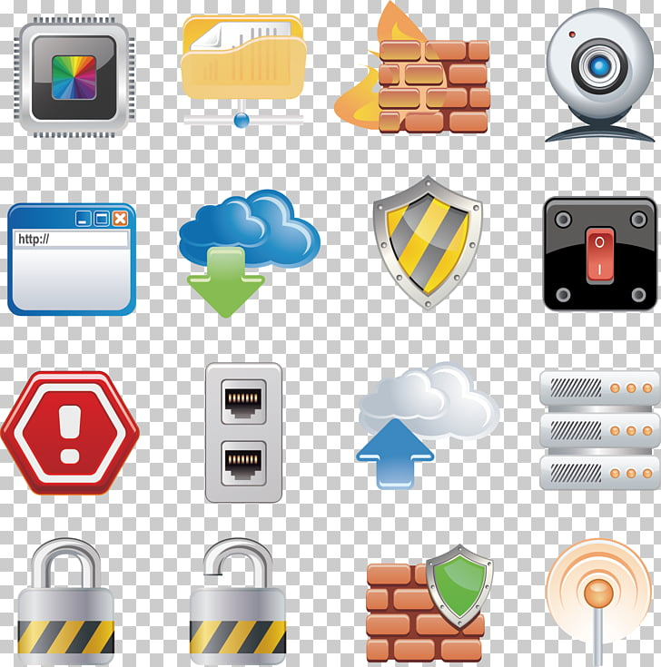 Icon, painted icon security camera network socket PNG.