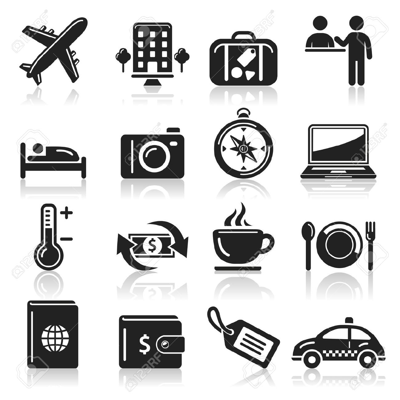 Travel Icons Set Royalty Free Cliparts, Vectors, And Stock.