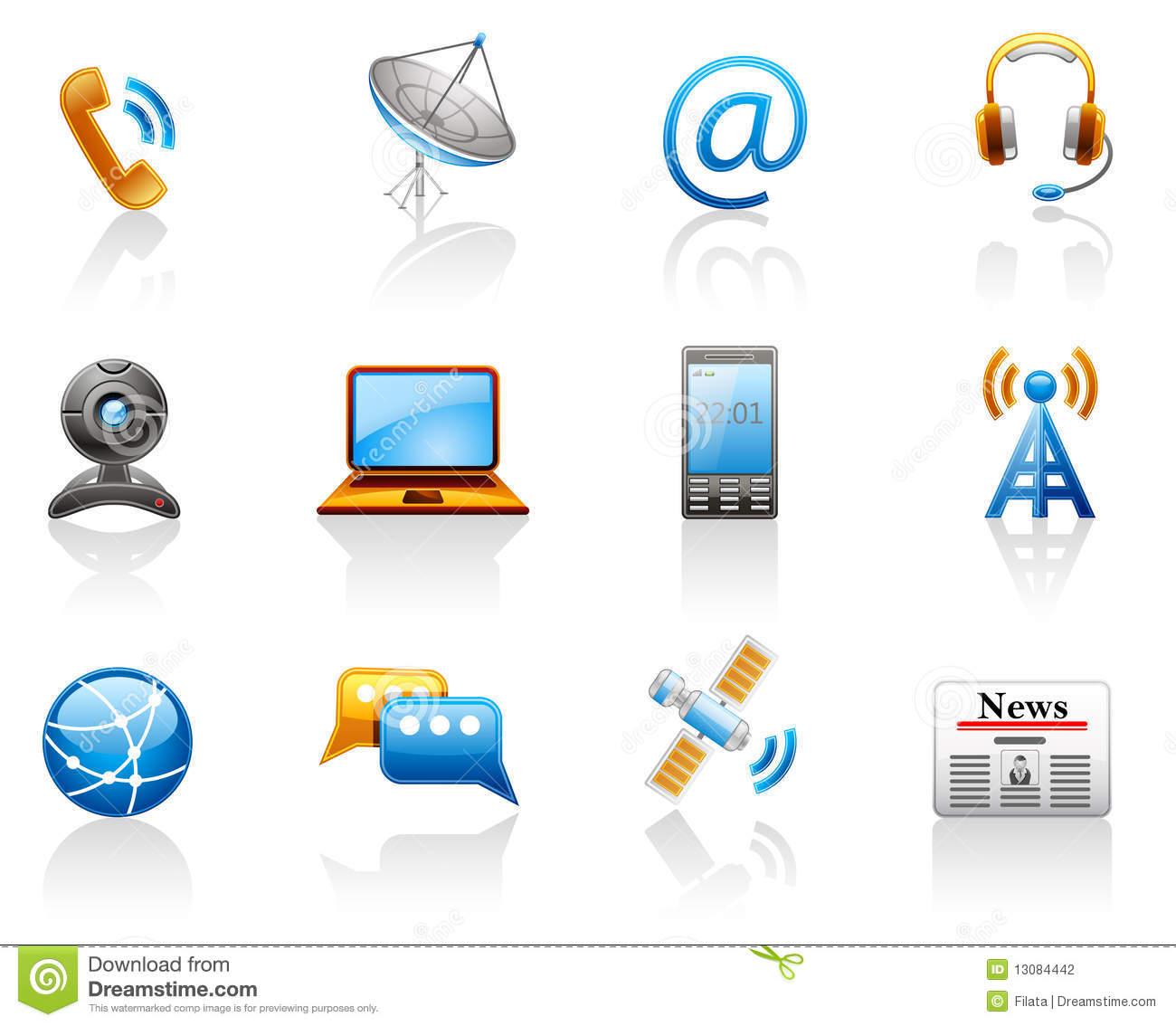 Communication Icon Set. Stock Photography.