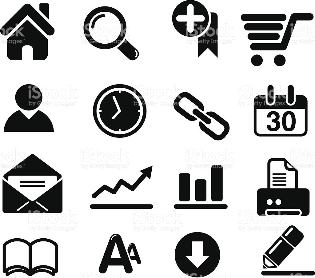 Web Design Icon Set Clip Art stock vector art 165765076.