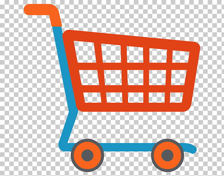 Shopping cart Icon, Shopping cart , red and blue shopping.