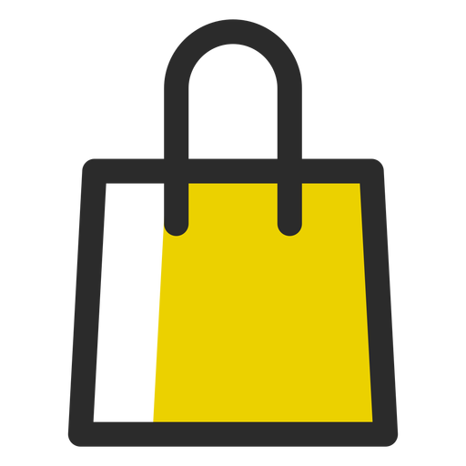 Shopping bag colored stroke icon.
