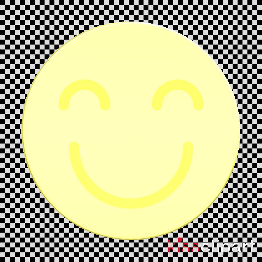 Happy icon Emoticon Set icon Smile icon clipart.