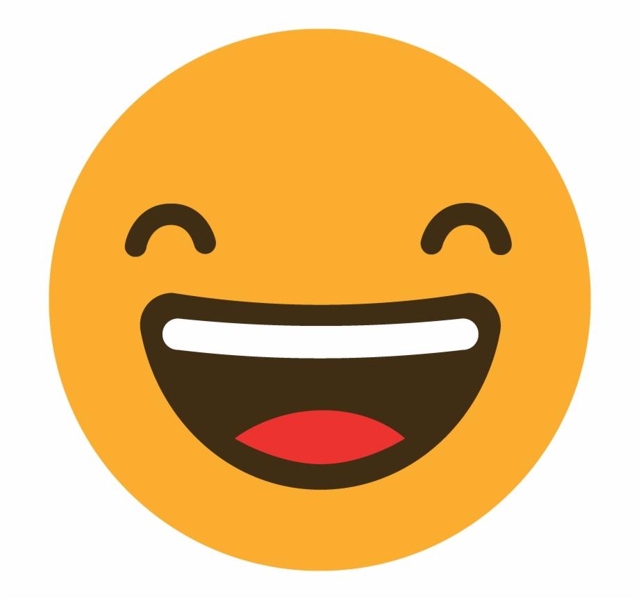 Happy Reaction Emoji Icon Vector Graphic Emoticon.