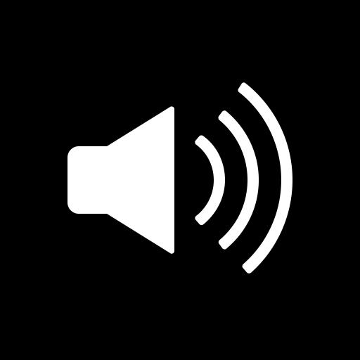 Audio, circle, music, sound, speaker, volume icon.
