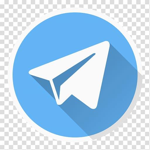 Round blue and white paperplane logo, Telegram Computer.