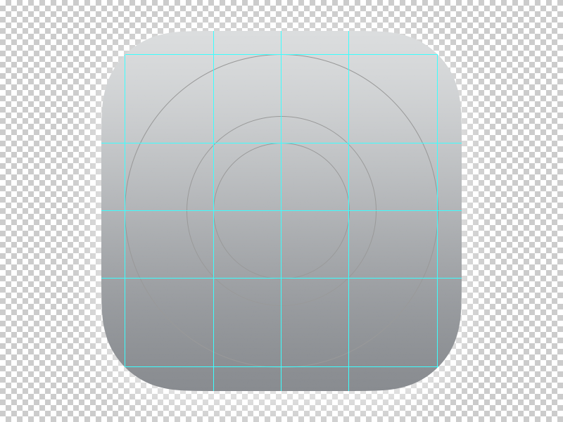 iOS 7 OCD App Icon Template Grid by Courtney ⭐ on Dribbble.